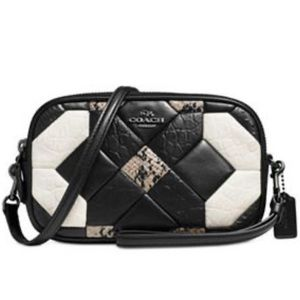 Coach Canyon Quilt Leather Crossbody Clutch